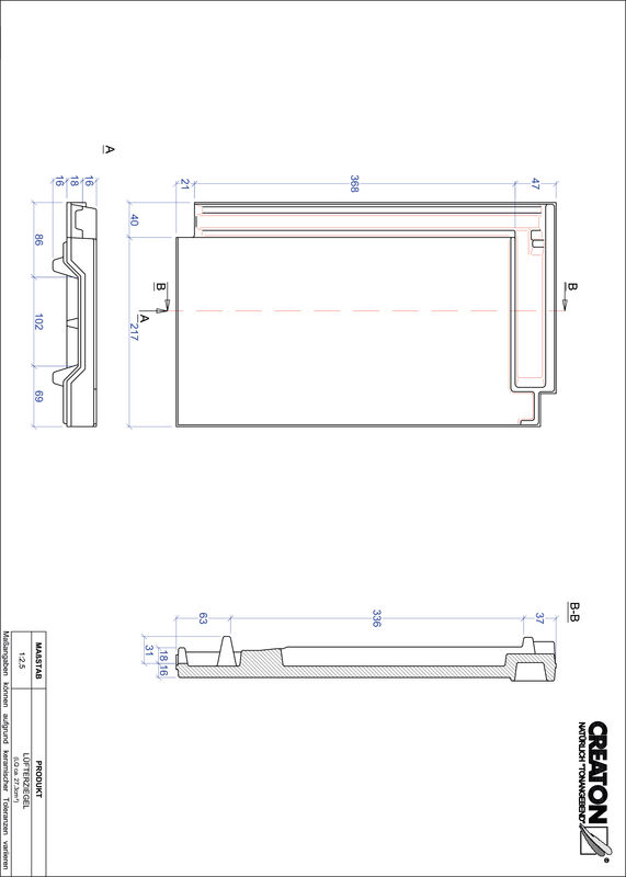 Product CAD file DOMINO ventilating tile LUEFTZ
