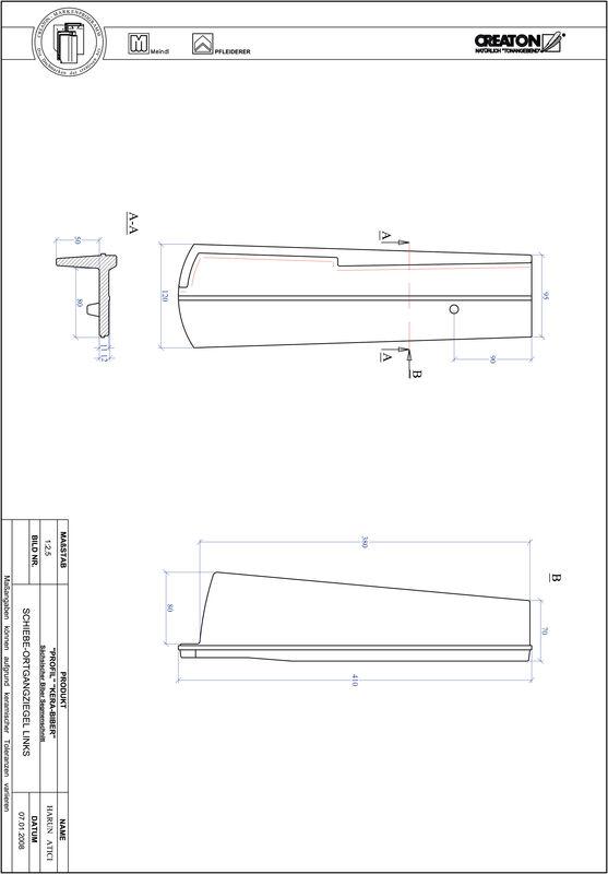 Product CAD file PROFIL segmented cut KERA-SAECHS-18-CM-OGL