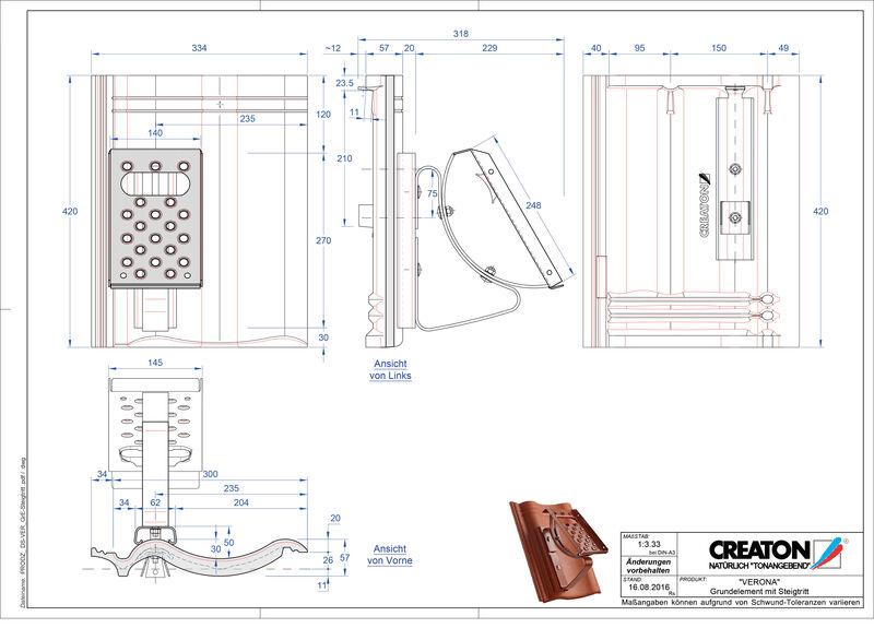 Product CAD file VERONA base element Steigtritt