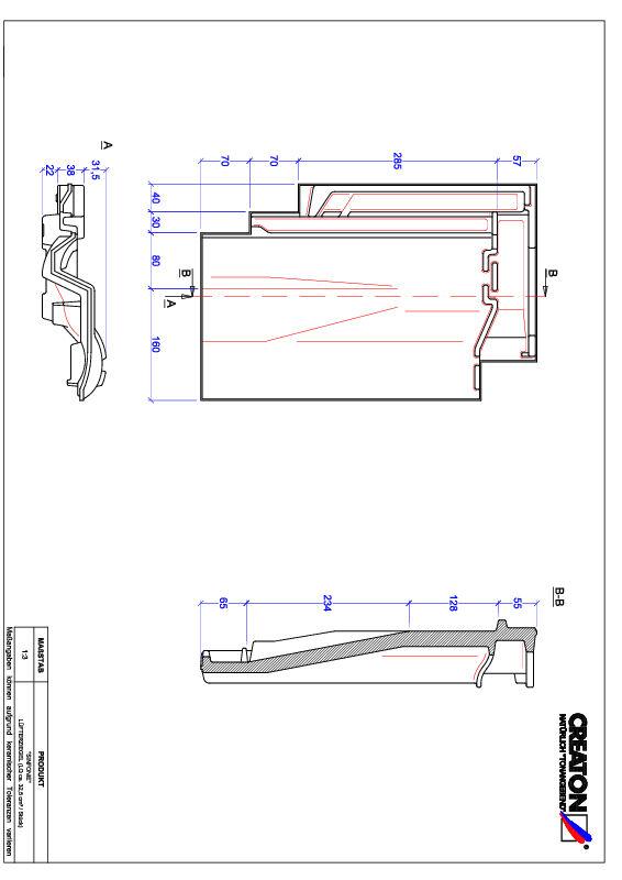 Product CAD file SINFONIE ventilating tile LUEFTZ