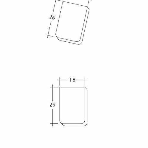 Product technical drawing AMBIENTE Seg-Traufziegel